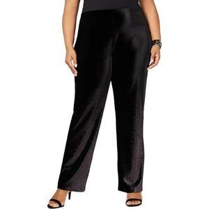Alfani 2X Black Foil Wide Leg Pants 5AM75